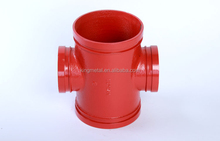 "Ductile Iron Pipe coupling ,1*1/4""-12"" Grooved reducing cross/ reducing cross /fire coupling"