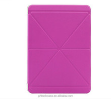 Smart cover leather case for IPAD AIR 2, leather case for ipad
