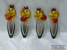 Polyresin home decoration cute ladybug bookmark for sale