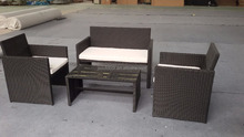 rattan outdoor furniture 4pcs coffee table set