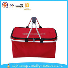 2015 hot sale new design high quality waterproof tote family size picnic basket