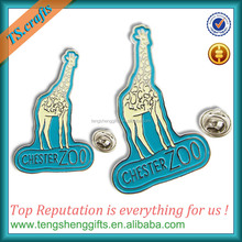 Diy animal shape hard enamel lapel pin with badge wholesale