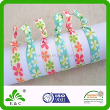 Charming Flower Print Fine Quality Safe Baby Elastic Hair Band