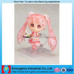 OEM free cartoon movie, cute plastic figure toys,custom plastic figurine