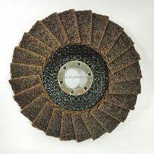 """Rigo 4 1/2"""" x 7/8"""" 115*22mm Coarse T29 Convex Non woven abrasive flap disc for derusting"""