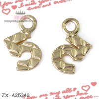2014 china new product fashion jewelry wholesale gold plated logo engraved jewelry tag charm Cell Phone Charm ZX-A25342