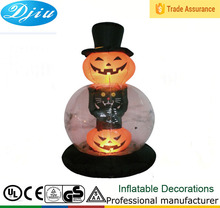 DJ-TL-055 2015 popular Halloween pumpkins six feet cap inflatable LED light decoration