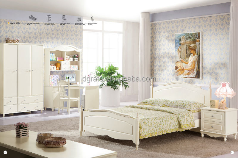 2014 moderne blanc adulte chambre ensembles de meubles de for Ensemble de chambre adulte