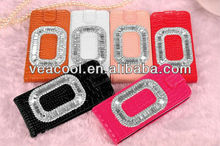 Handmade Diamond Croco Style Leather Case for iPhone 5 5G 5S
