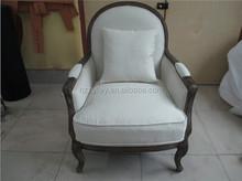 Nightclub lobby leisure lounge sofa chair/restaurant waiting upholstered single seater sofa chair