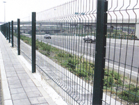 boundary wall powder coating wire mesh fence for sale