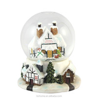 Christmas house water globe for christmas gifts