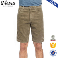 2015 Custom Made Good Quality Mens Corduroy Walking Shorts