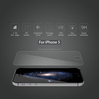 "2.5D round edge anti-fingerprint tempered glass screen protector for apple iphone 5c"" accessories"