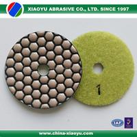 Xiaoyu diamond dry polishing pads for granite marble