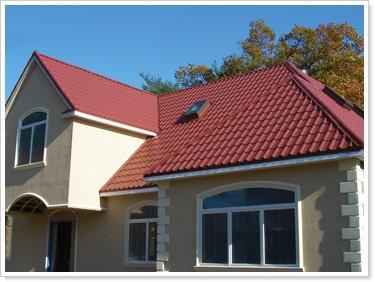Roma estilo sint tico tipo de resina de para techos tejas for Techos de metal para casas