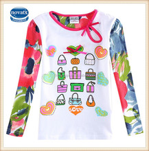 2-6t (F5207) 2015 New arrive ready to import nova kids blouse girl fashion design t shirts
