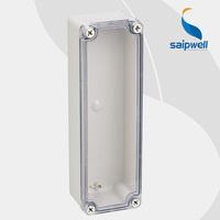 Manufacture SAIP/SAIPWELL 80*250*85 ABS Enclosure Clear Cover Plastic Waterproof Switch Box for Wholesale