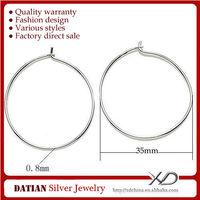XD P128 Anallergic Wholesale 925 Sterling Silver Big Hoop Earrings