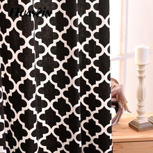 Hot selling fashion design best price cotton material window curtains