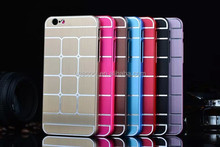 New Design Chrome Metal Case with Grid for Apple iPhone 6/6 Plus
