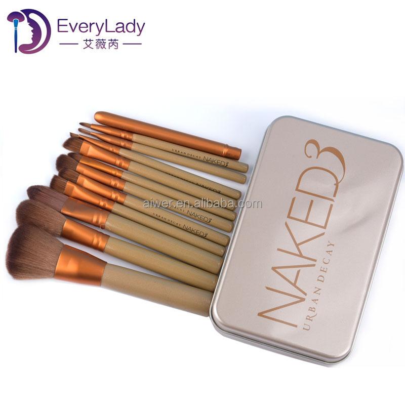 Private label makeup brush set 12 pcs makeup tools