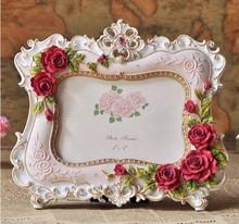 White Decorative Antique Wedding Photo Frame Rose Flower Photo Frame