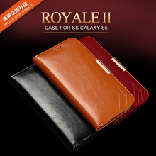 Kalaideng Royale II series Genuine leather case magnetic cover for samsung galaxy s5