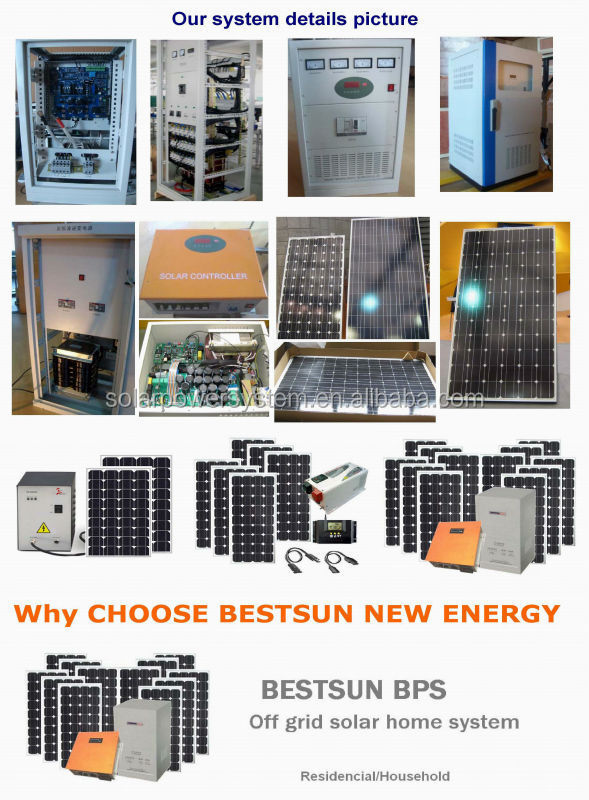Bestsun high quality 15kw price per watt solar panels in india