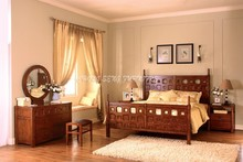 BD0903Bed frame chunky maple wood timber furniture