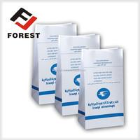 customization bottom square air sickeness bag, waterproof paper bag printing