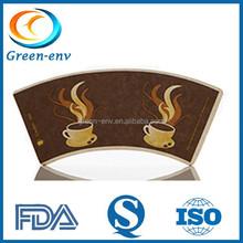 Custom Food Grade AAA No Complaint Printed Paper Cup Fan Coated PE