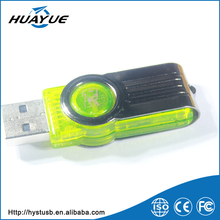 Wholesale Free Sample 128mb to 64gb Swivel 2.0 Plastic Flash Drive Bracelet