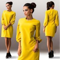 2015 new coming women clothes bodycon dress lantern sleeve evening dresses china ZC1952