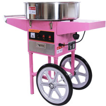 Upright Electric Commercial Candy Floss Machine With Cart(IEC-03C)