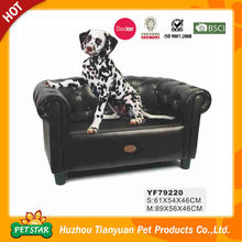 PU Leather Black Pet Bed Lounge