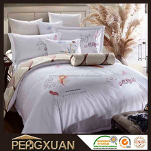 luxury comfortable jacquard hotel goose down filled comforter 600TC