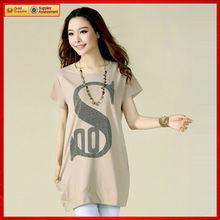 Más el estilo de medio tamaño 2013 mujeres flojas al por mayor t-shirt