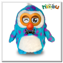 2015 hot selling plush hibou interactive conversation toy