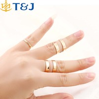 >>>Top Sales Women Jewelry Wholesale Christmas gifts Gold/Silver Plated Fashion Punk Trendy Simple Knuckle Open Ring Sets/
