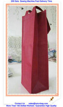 Canvas Material and Backpack Type wine bottle gift bag for wholesales