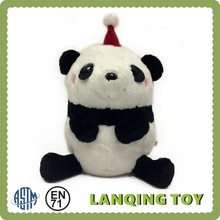 Cute Plush Panda Bear With Hat Gifts Christmas Toy