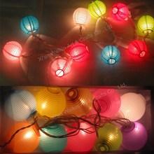 Mini fabric lamp led paper lantern light string
