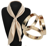 S>>>> Top Selling Magnetic Metal Gold Plated Scarf Clips Simple Design Brooches