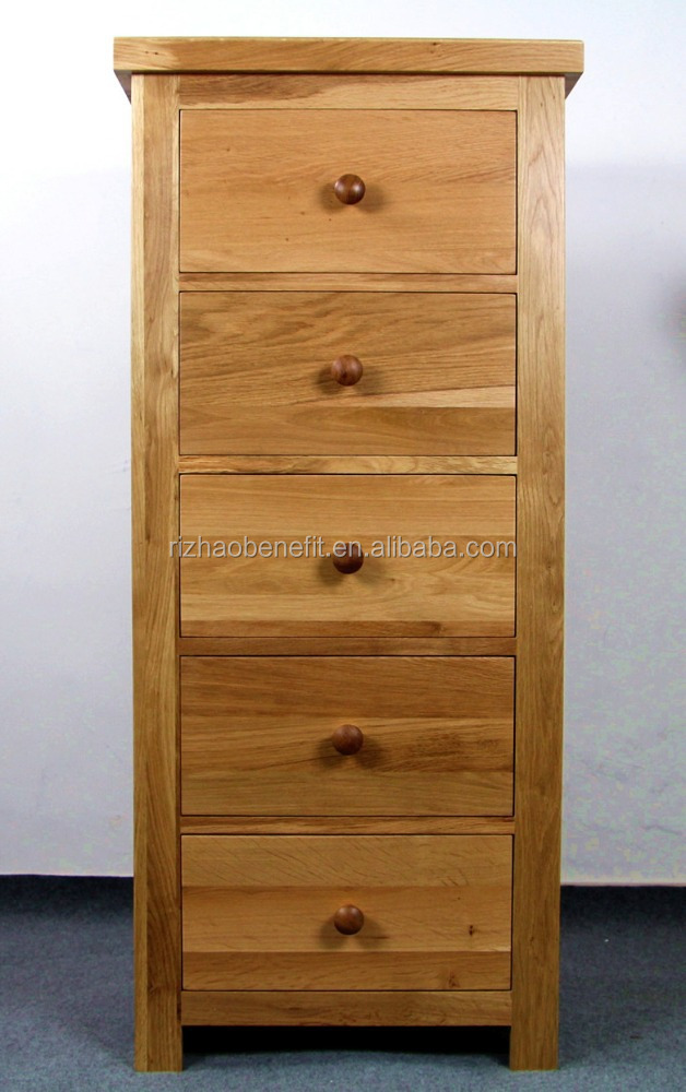 Solid oak wood uk design storage drawers cabinet chest