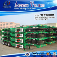 Brand new/used 40ft container chassis/tri axles container semi trailer for sale