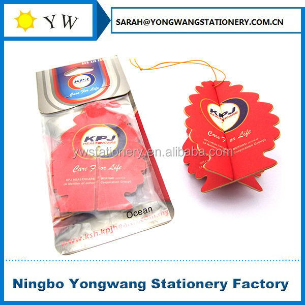paper car air freshener in T shirt shape (MSDS certificate,100% fragrance without any other liquid)