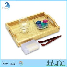 Chinese supply kids non-toxic wooden kindergarten practical life training education montessori material
