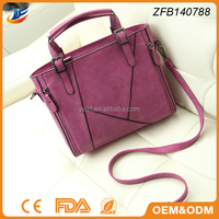 fashion design joint bag top pu leather bag suede leather sling bag