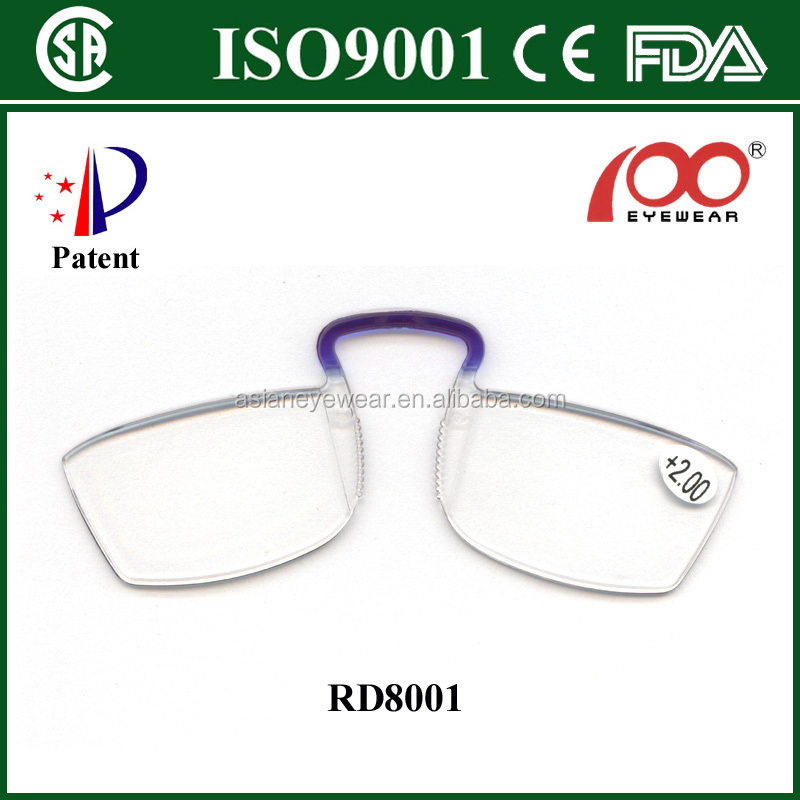 patent mini clic reading glasses without temples with